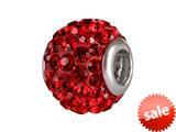 SilveRado™ BM001-6 Bling Razzle Dazzle Red Bead / Charm style: BM001-6