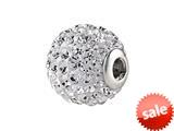 SilveRado™ BM003-1 Bling Focal Razzle Dazzle White Pandora Compatible Bead / Charm style: BM003-1