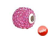 SilveRado™ BM003-2 Bling Focal Razzle Dazzle Pink Pandora Compatible Bead / Charm style: BM003-2