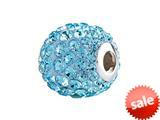 SilveRado™ BM003-3 Bling Focal Razzle Dazzle Blue Pandora Compatible Bead / Charm style: BM003-3