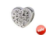 SilveRado™ BM004-1 Bling Heart Bling White Bead / Charm style: BM004-1