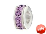 SilveRado™ BM005-7 Bling Single Bling Purple Pandora Compatible Bead / Charm style: BM005-7
