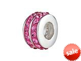 SilveRado™ BM006-2 Bling Double Bling Pink Bead / Charm style: BM006-2