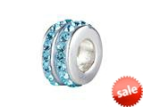 SilveRado™ BM006-3 Bling Double Bling Blue Pandora Compatible Bead / Charm style: BM006-3