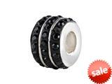 SilveRado™ BM007-0 Bling Triple Bling Black Bead / Charm style: BM007-0