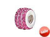 SilveRado™ BM007-2 Bling Triple Bling Pink Bead / Charm style: BM007-2