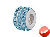 SilveRado™ BM007-3 Bling Triple Bling Blue Pandora Compatible Bead / Charm style: BM007-3