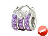 SilveRado™ BM008-7-1 Bling-Handbag Bling Purple