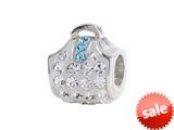 SilveRado™ BM009-1-3 Bling Handbag Bling White Bead / Charm style: BM009-1-3