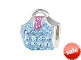 SilveRado™ BM009-3-2 Bling Handbag Bling Blue Bead / Charm style: BM009-3-2