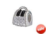 SilveRado™ BM010-1-0 Bling Handbag Bling White Bead / Charm style: BM010-1-0