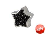 SilveRado™ BM011-0 Bling Star Bling Black Pandora Compatible Bead / Charm style: BM011-0