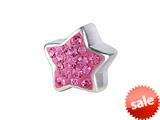 SilveRado™ BM011-2 Bling Star Bling Pink Bead / Charm style: BM011-2