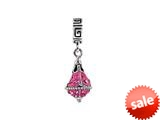 SilveRado™ BM021-2 Bling Dangle Bling Pink Bead / Charm