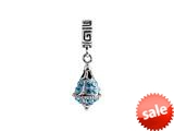 SilveRado™ BM021-3 Bling Dangle Bling Blue Pandora Compatible Bead / Charm style: BM021-3