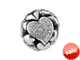 SilveRado™ BM022-1 Bling Focal-Love Hearts White Bead / Charm style: BM022-1