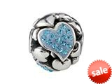 SilveRado™ BM022-3 Bling Focal-Love Hearts Blue style: BM022-3