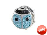 SilveRado™ BM033-3-0 Bling Lady Bird Blue Bead / Charm