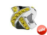 SilveRado™ BM034-4 Bling Ribbon Yellow Bead / Charm