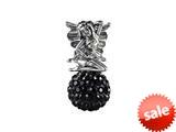 SilveRado™ BM037-0 Bling Fairy Bling Black Bead / Charm style: BM037-0