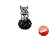 SilveRado™ BM038-0 Bling Angel Bling Black Pandora Compatible Bead / Charm style: BM038-0