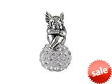SilveRado™ BM038-1 Bling Angel Bling White Bead / Charm