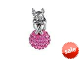 SilveRado™ BM038-2 Bling Angel Bling Pink Pandora Compatible Bead / Charm style: BM038-2