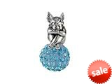 SilveRado™ BM038-3 Bling Angel Bling Blue Pandora Compatible Bead / Charm