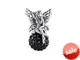 SilveRado™ BM040-0 Bling Fairy Bling Black Bead / Charm style: BM040-0