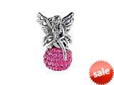SilveRado™ BM040-2 Bling Fairy Bling Pink Bead / Charm style: BM040-2