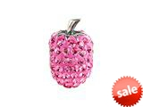 SilveRado™ BM048-2 Bling Strawberry Pink Bead / Charm