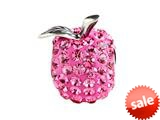 SilveRado™ BM049-2 Bling Apple of My Eye Pink Pandora Compatible Bead / Charm