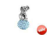 SilveRado™ BM050-3 Bling Elephant Bling Blue Bead / Charm style: BM050-3