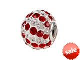SilveRado™ BMT001-2 Bling-Red and White Spiral