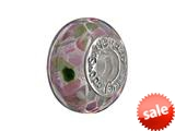 SilveRado™ CF13 Murano Glass Rainbow`s Edge Pandora Compatible Bead / Charm style: CF13