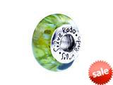 SilveRado™ F04 Murano Glass Pine Lime Bead / Charm style: F04