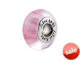 SilveRado™ F10 Murano Glass Musky Pink Bead / Charm style: F10