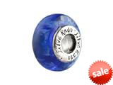 SilveRado™ F16 Murano Glass Blue Lagoon Bead / Charm style: F16