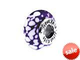 SilveRado™ FF02 Murano Glass Cranberry Ice Bead / Charm style: FF02