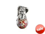 SilveRado™ MAU011 Murano Glass/Sterling Silver Earth Angel Bead / Charm