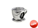 SilveRado™ MAU020 Sterling Silver Coffee Time Pandora Compatible Bead / Charm