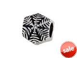 SilveRado™ MAU025 Sterling Silver Snow Flake Pandora Compatible Bead / Charm style: MAU025