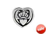 SilveRado™ MIB019 Sterling Silver Celtic Claddagh Bead / Charm style: MIB019