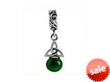 SilveRado™ MIB074-1 Murano Dangle Ball Midnight Forest Pandora Compatible Bead / Charm style: MIB074-1