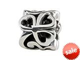 SilveRado™ MIB087 Sterling Silver Celtic Triple Heart Twist 2 Bead / Charm