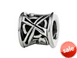 SilveRado™ MIB105 Sterling Silver Celtic Barrel Cross Bead / Charm style: MIB105