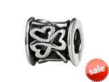 SilveRado™ MIB106 Sterling Silver Celtic Shamrock Bead / Charm style: MIB106