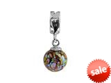 SilveRado™ MMD004 Murano Glass Dangle Ball Arabian Nights Pandora Compatible Bead / Charm style: MMD004