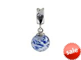 SilveRado™ MMD009 Murano Glass Dangle Ball Spring Water Bead / Charm