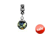 SilveRado™ MMD010 Murano Glass Dangle Ball Moon Dance Bead / Charm
